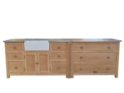 casserolier de cuisine 3 tiroirs bois massif
