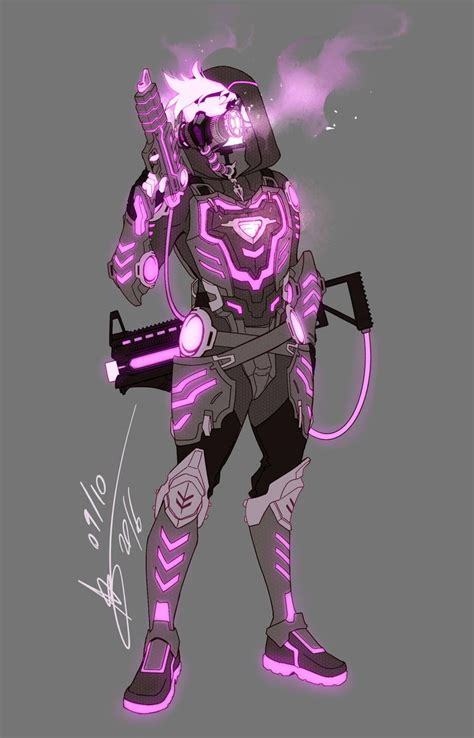 overwatch oc redesign neon  abd illustrates fantasy