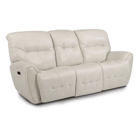 White Leather Reclining Sectional Sofa by White Leather Match Power Reclining Sofa