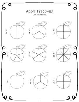 apple fractions worksheet apple school theme fractions worksheets fractions teaching fractions
