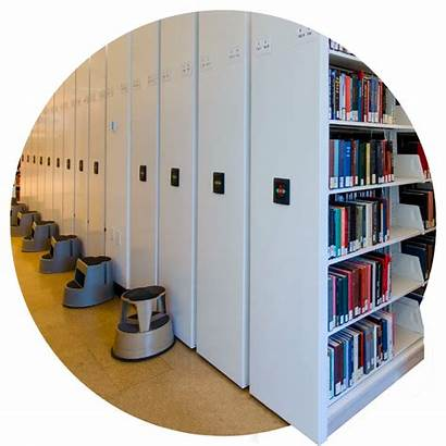 Shelving Density Mobile Library Storage Spacesaver Systems