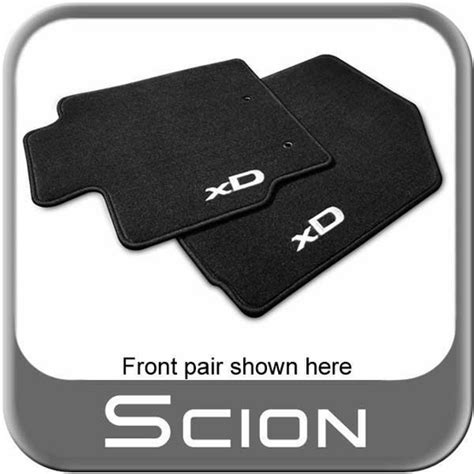 2008 2012 scion xd carpeted floor mats black