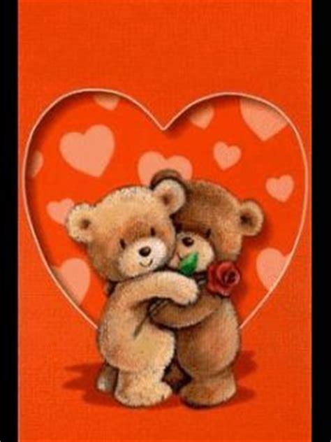 teddy hugging teddy  rose   heart liebe gif