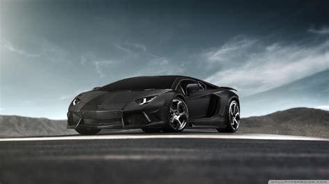 Black Lamborghini Aventador Supercar 4k Hd Desktop