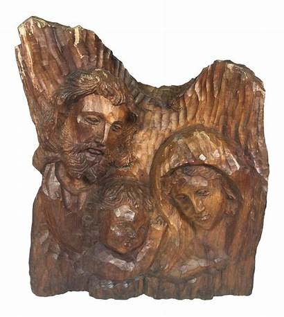 Wood Holy Religious Sculpture Carved Chairish