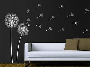 Wandtattoo Pusteblume Weiß : wandtattoo pusteblumen im wind ~ Frokenaadalensverden.com Haus und Dekorationen