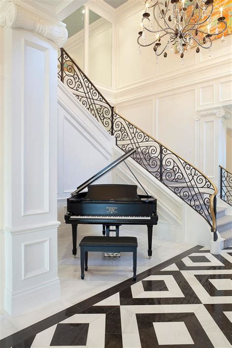 wrought iron stair railing staircase traditional with