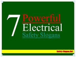 Electrical Safety Slogans