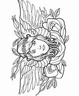 Coloring Tattoo Adult Gypsy Modern Colouring Dover Publications Adults Tattoos Printable Creative Haven Welcome Doverpublications Female Angel Sheets Tatoo Fairy sketch template