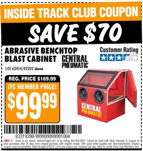 Abrasive Blast Cabinet Harbor Freight Harbor Freight Tools Coupon Database Free Coupons 25 Percent Coupons Toolbox Coupons