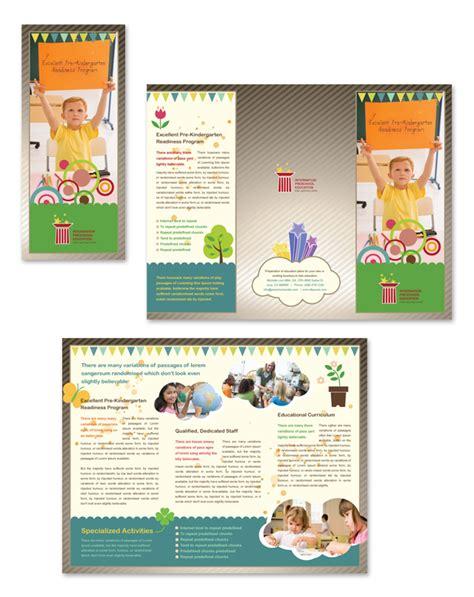 Preschool Brochure Template by Preschool Education Tri Fold Brochure Template