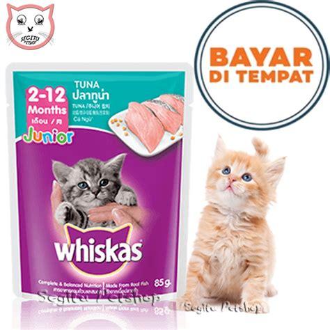 Wetfood Whiskas Junior Sachet 85gr whiskas pouch mackerel dan salmon 85gr 12pcs wikie cloud