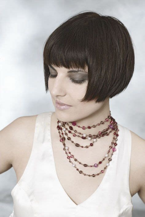 vintage vixen short bob with bangs for women with chubby