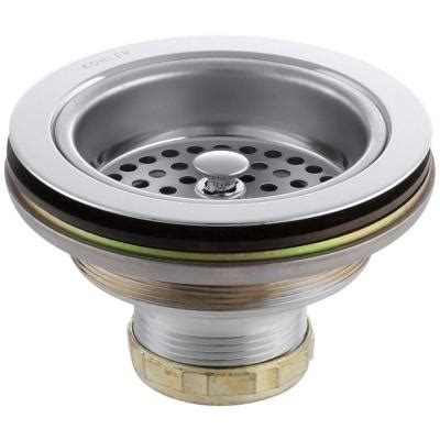 Install Blanco Sink Strainer by Duostrainer 4 1 2 In Sink Strainer In Polished Chrome K