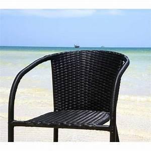 Fauteuil En Resine : fauteuil de jardin en r sine tress e mod le bora wood en stock ~ Teatrodelosmanantiales.com Idées de Décoration