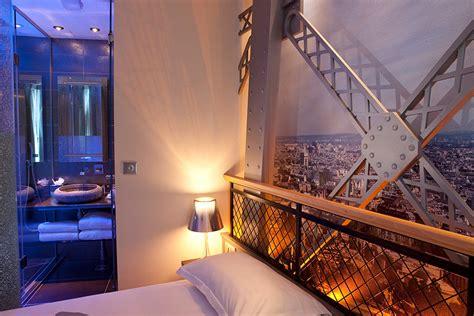 eiffel tower rooms shower hotel design secret de paris