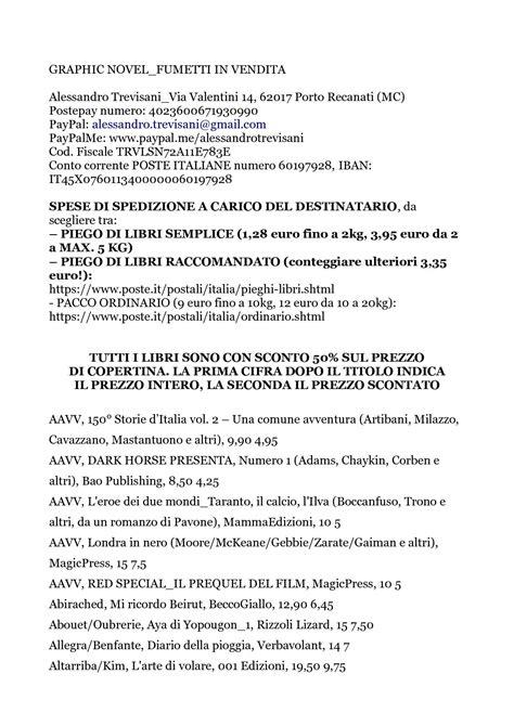 Poste Italiane Porto Recanati by Calam 233 O Fumetti Meta Prezzo 29 Novembre 2017