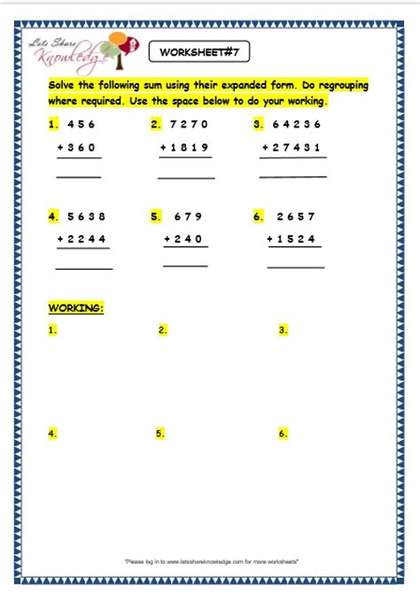 Expanded Form Addition And Subtraction Worksheets  Quiz Worksheet Writing Numbers In Expanded