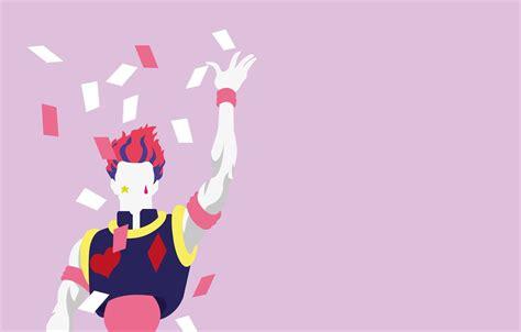 hxh hisoka fond d cran minimaliste dessin pikachu