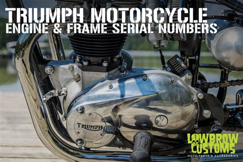 triumph motorcycle engine frame serial vin numbers