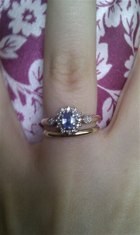 spinoff pics of your two rings together wedding ring engagement ring