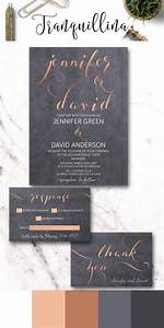 copper wedding invitation printable modern wedding With rose gold and gray wedding invitations