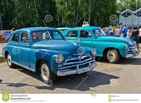 Old Car Show On Retrofest. Gaz M-20 Pobeda Editorial Image