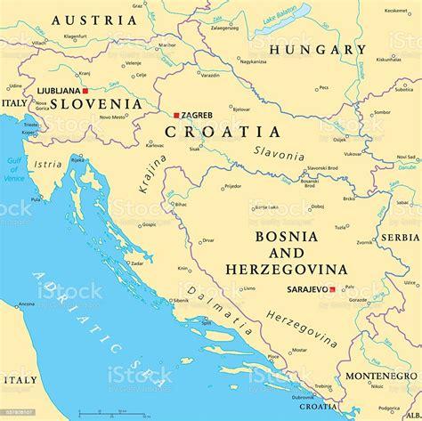 Westbalkan Politische Karte Stock Vektor Art und mehr ...
