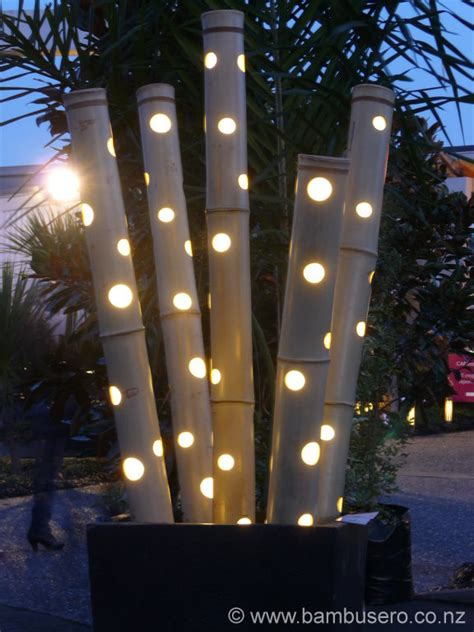 bamboo lights indoor outdoor lights  zealand