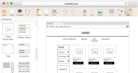 Tools To Create Website Templates by Online Wireframe And Ui Mockup Tool Creately
