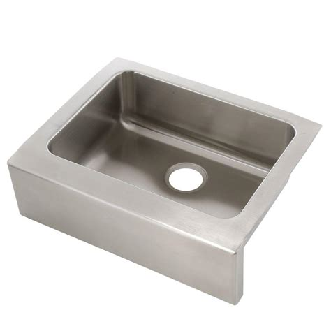 25 stainless steel kitchen sink elkay lustertone stainless steel 25 in farmhouse apron