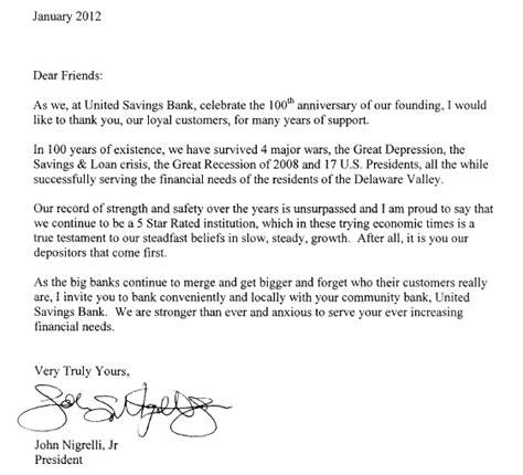bank letter for direct deposit letter from the president