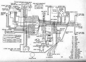 Honda Cb450  Glenns  Electrical Wiring Diagram  U2013 Circuit