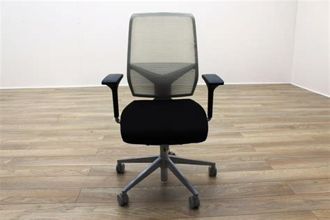 giroflex g68 black fabric white mesh office task chairs