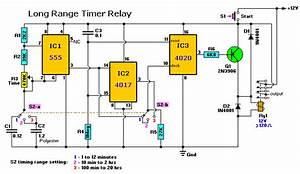 20 Hour Timer Relay Circuit With 4017 4020
