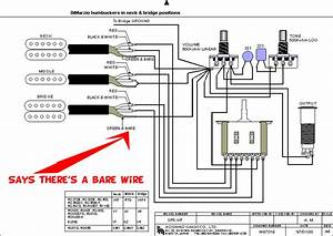 Guitar - Bare Wires From Pickups In Ibanez Diagram Confusion