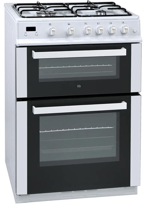 Kitchen Aid Gas Range by Buy Iq 60cm Double Oven Gas Cooker White From Debenhams Plus
