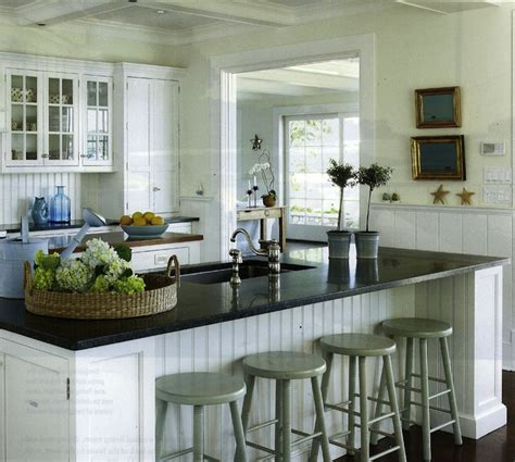 cottage style kitchen islands beadboard cabinets design ideas