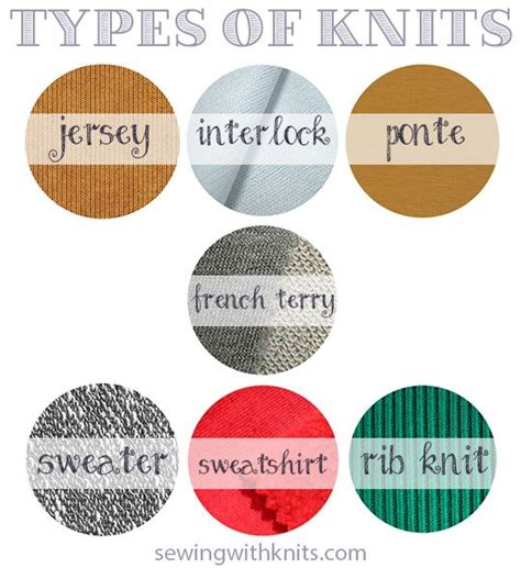 fabric types types of knit fabrics sewing with knits a modern thread pinterest fabric sewing