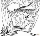 Coloring Train Tunnel sketch template
