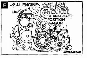 Crankshaft Position Sensor Location  6 Cyl Front Wheel