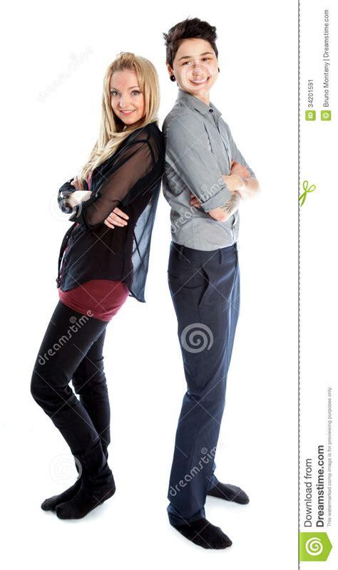 Same Sex Couple Isolated White Background Stock Image
