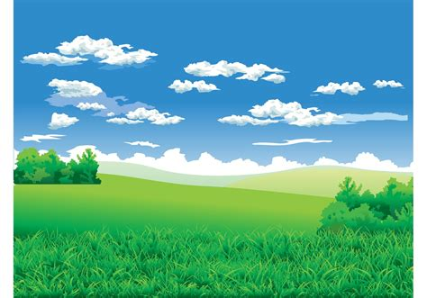 landscape background   vector art stock