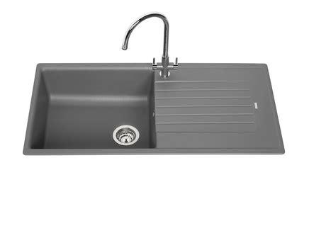 lamona grey granite composite single bowl sink howdens