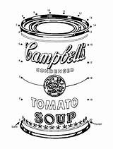 Soup Coloring Template Printable Pages Campbell Warhol Cans Campbells Dinner Sheknows Printables Colouring Sheets Dots Connect Sketch Templates Pop Tattoo sketch template