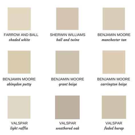 putty color paint schemes