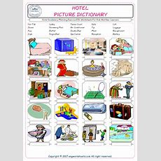 Hotel Vocabulary Matching Exercise Esl Worksheets For Kids And New Learners