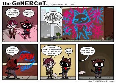 Gamercat Comics Gamer Neon Comic Cat Vibes