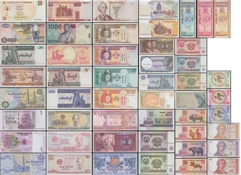 50 Different World Mix Foreign Banknotes,currency