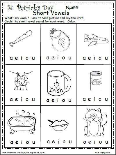 st s day kindergarten vowels worksheet st best